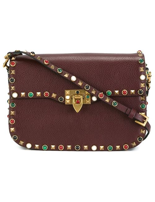 Valentino | Женское Красный Rockstud Rolling Shoulder Bag