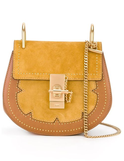 Chloe | Женское Зелёный Chloé Studded Drew Shoulder Bag