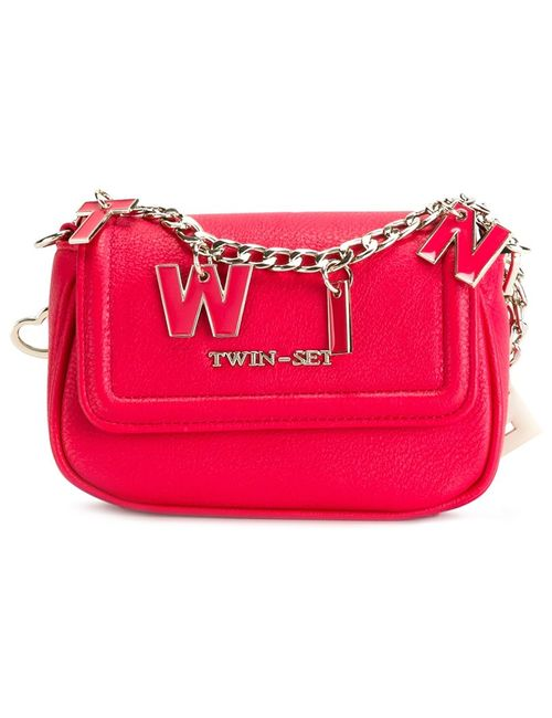Twin-set | Розовый Lettered Chain Crossbody Bag