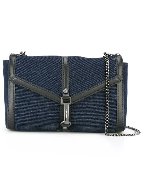 Diesel | Синий Ribbed Flap Closure Cross Body Bag