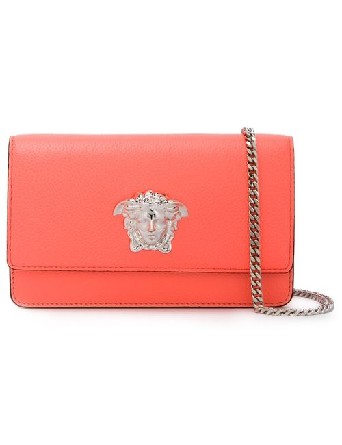 Versace | Женское Розовый Palazzo Medusa Patent Foldover Clutch