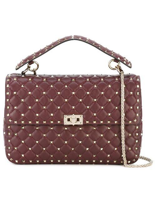 Valentino | Женское Красный Rockstud Matelasse Shoulder Bag