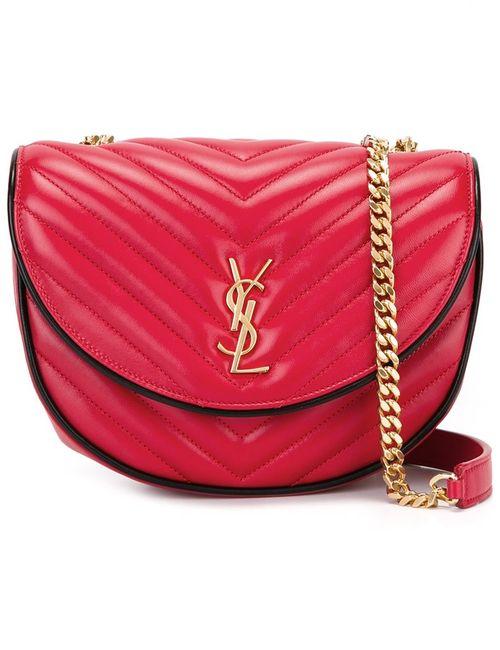 Saint Laurent | Женское Красный Bubble Monogram Satchel Bag