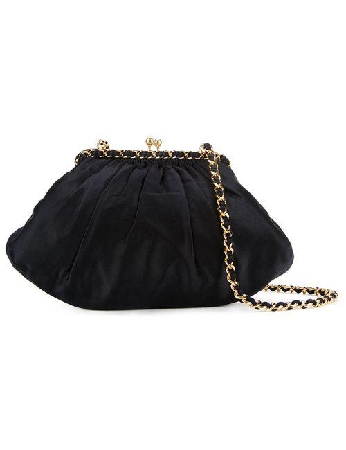 Chanel Vintage | Женское Чёрный Small Satin Shoulder Bag