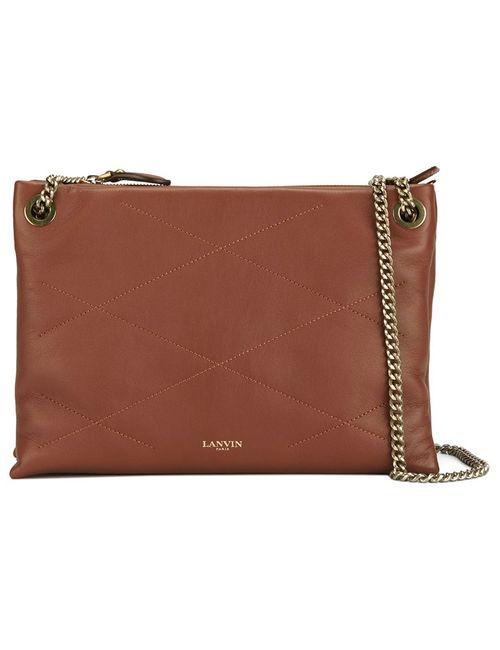 Lanvin   Женское Коричневый Sugar Zipped Shoulder Bag