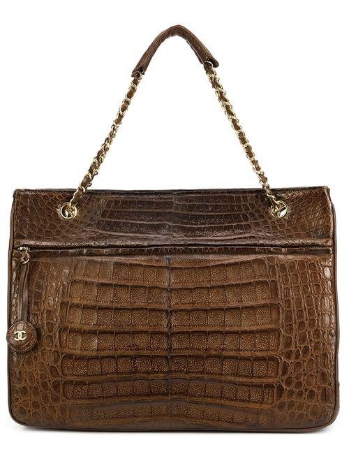 Chanel Vintage | Женское Коричневый Crocodile Leather Tote
