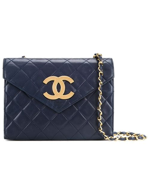 Chanel Vintage | Женское Синий Quilted Envelope Shoulder Bag