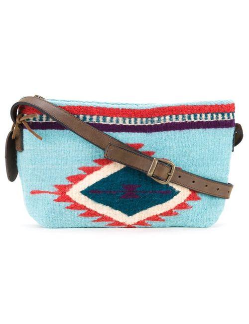 Manos Zapotecas | Синий Aztec Shoulder Bag