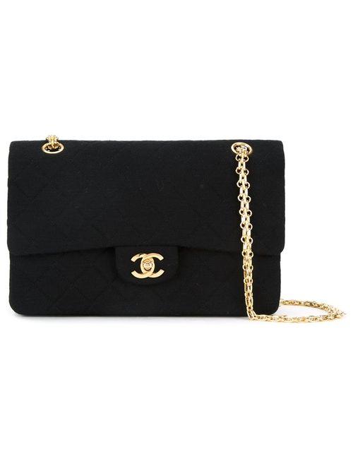 Chanel Vintage | Женское Чёрный Jersey Classic Flap 23cm Bag