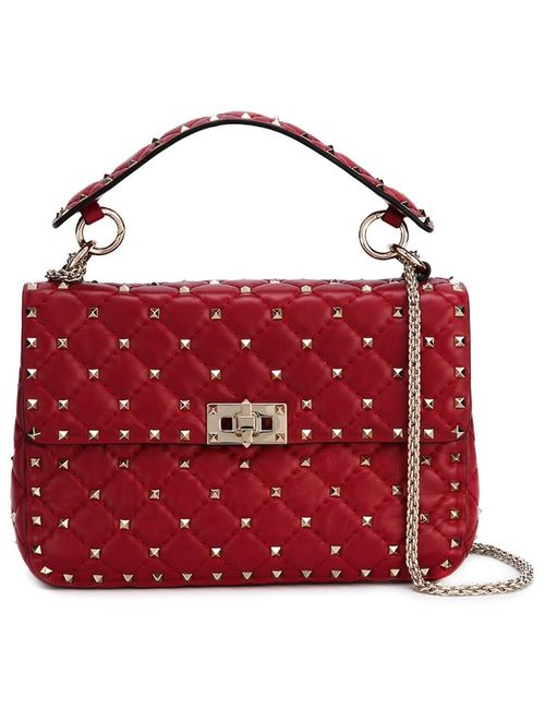 Valentino | Женское Красный Rockstud Matelasse Shoulder Bag
