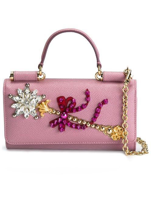 Dolce & Gabbana | Женское Розовый Mini Von Wallet Crossbody Bag