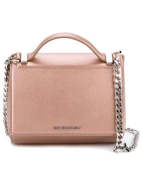 Givenchy   Женское Розовый Mini Pandora Box Shoulder Bag