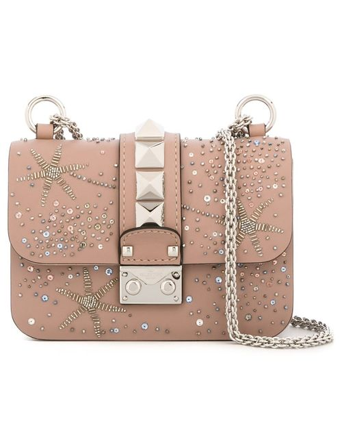 Valentino | Женское Nude/Neutrals Mini Glam Lock Shoulder Bag