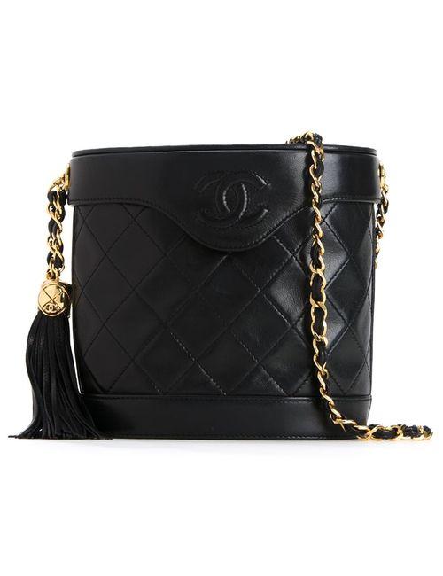 Chanel Vintage | Черный Fringe Bucket Chain Bag