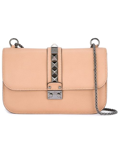 Valentino | Женское Nude/Neutrals Medium Glam Lock Shoulder Bag