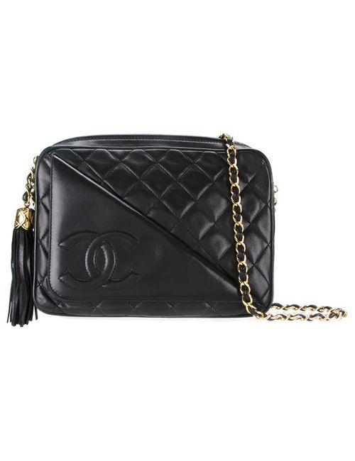 Chanel Vintage | Женское Чёрный Logo Flap Quilted Shoulder Bag