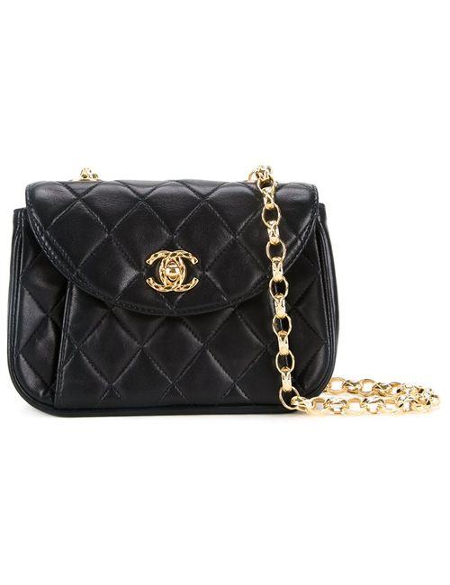 Chanel Vintage   Женское Чёрный Small Quilted Shoulder Bag