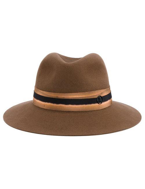 Maison Michel | Коричневый Ribbon Detail Hat Medium Wool Felt