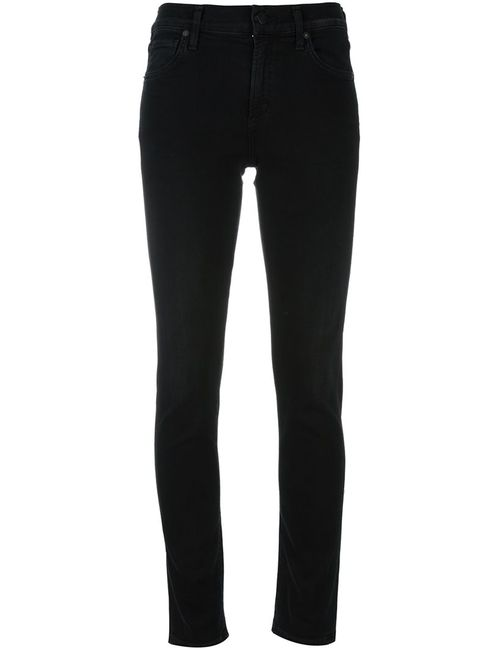 Citizens of Humanity | Женское Чёрный Skinny High-Rise Jeans 31 Cotton/Polyester/Spandex/Elastane