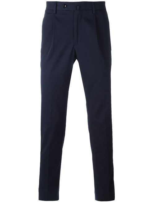 Incotex   Мужское Синий Tailored Trousers 54 Cotton