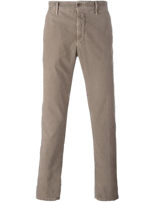 Incotex | Nude/Neutrals Slim Fit Chinos 33 Cotton/Spandex/Elastane