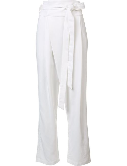 Sea | Женское Белый Bow Trousers 4 Cotton/Polyester/Spandex/Elastane/Viscose