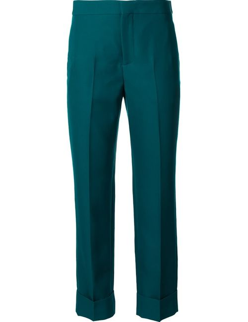 Maison Margiela | Зелёный Cropped Slim Fit Trousers Womens Size 38
