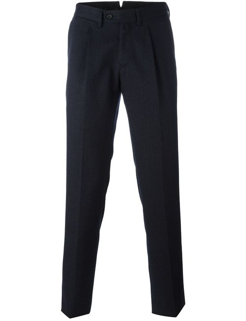 BORRELLI | Мужское Синий Classic Tapered Trousers 54 Cotton/Polyester/Virgin Wool