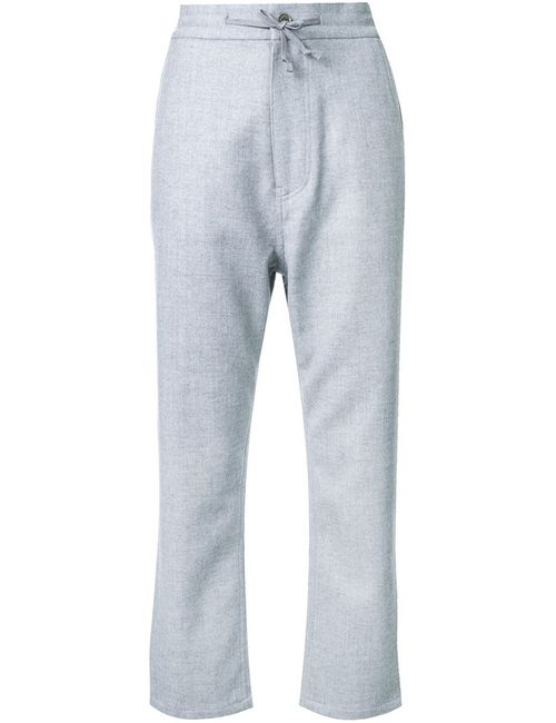 FADTHREE | Женское Серый Tapered Cropped Trousers Medium Nylon/Polyester/Polyurethane/Wool