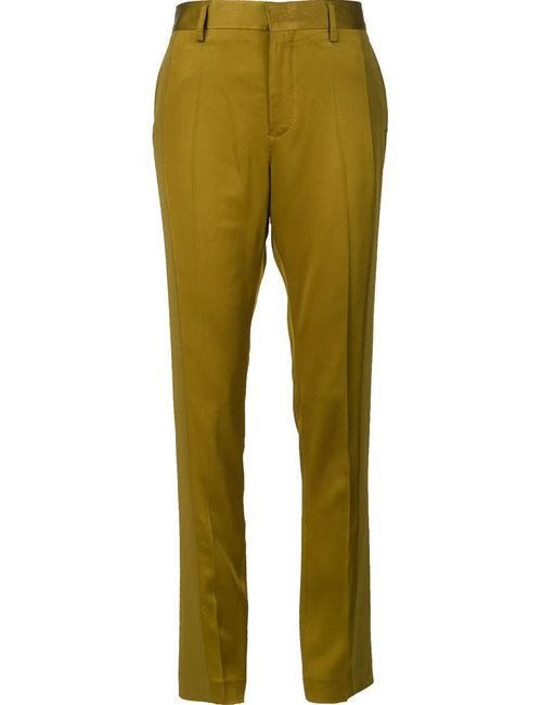 Haider Ackermann | Женское Зелёный High-Waisted Trousers 38 Cotton/Acetate/Rayon
