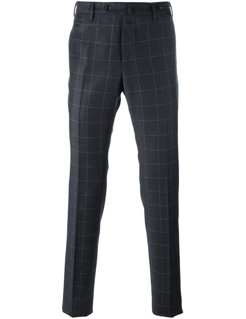 Pt01 | Серый Checked Tapered Trousers 54 Virgin Wool