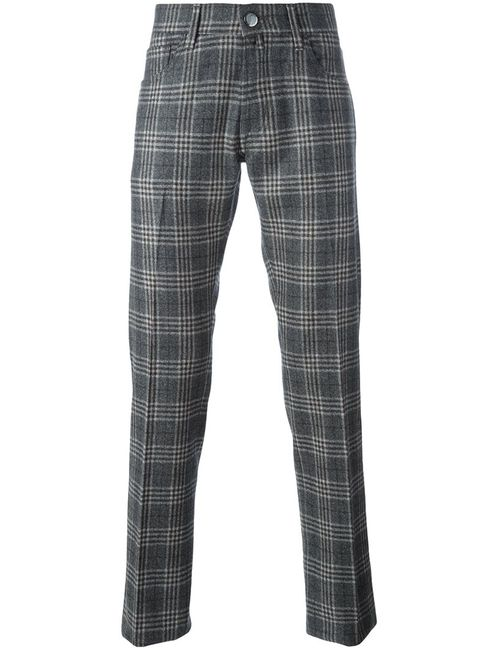 Jacob Cohёn | Серый Jacob Cohen Checked Trousers 32 Wool