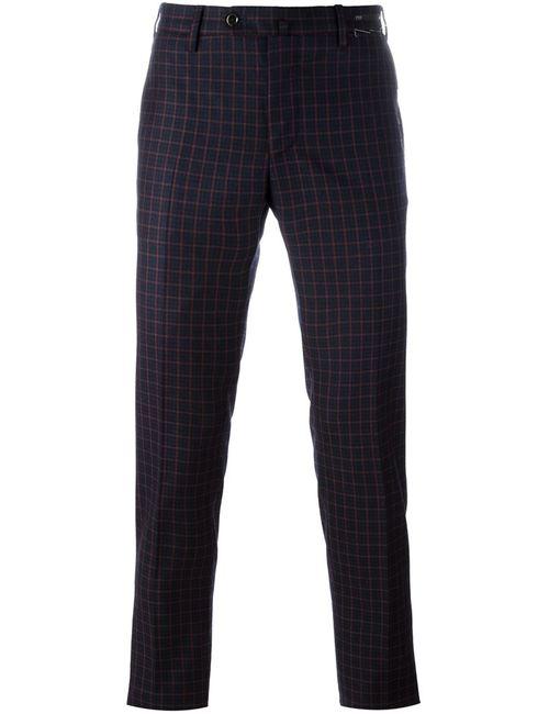Pt01 | Синий Skinny Fit Trousers 52 Spandex/Elastane/Virgin Wool