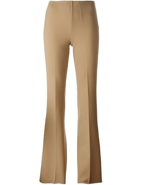 Theory | Женское Nude/Neutrals Flared Trousers 6 Spandex/Elastane/Virgin Wool