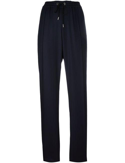 Kenzo | Синий Straight Leg Trousers Medium Cotton/Acetate/Wool/Brass