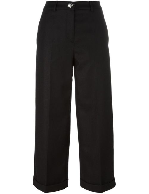 Love Moschino | Женское Чёрный Wide Leg Cropped Trousers 44 Polyamide/Acetate/Viscose/Wool