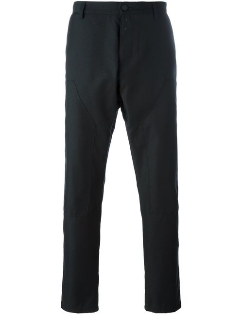 OAMC | Черный Pleated Tapered Trousers 32 Polyester/Cupro/Virgin Wool