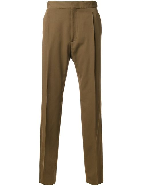 Lanvin | Коричневый Pleated Trousers 46 Virgin Wool
