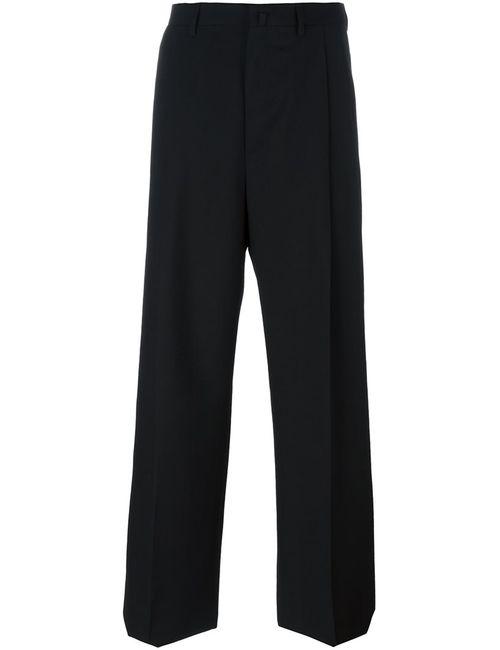 Lanvin | Чёрный Tailored Wide Leg Trousers 46 Viscose/Virgin Wool