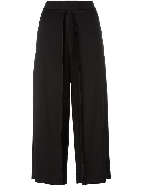 DKNY | Женское Чёрный Pleated Front Culottes 4 Spandex/Elastane/Viscose/Wool