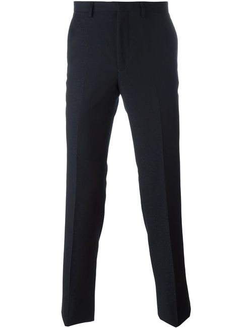 Kenzo | Синий Slim Jacquard Trousers 48 Virgin Wool