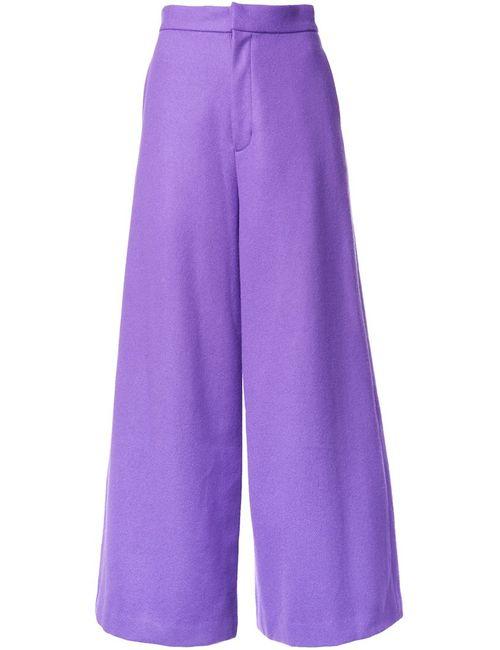 G.V.G.V. | Женское Розовый High Waisted Palazzo Pants 34 Nylon/Wool