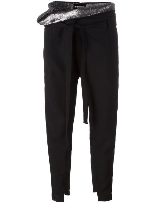 Ann Demeulemeester | Черный Loose Waist Tapered Trousers 40 Wool