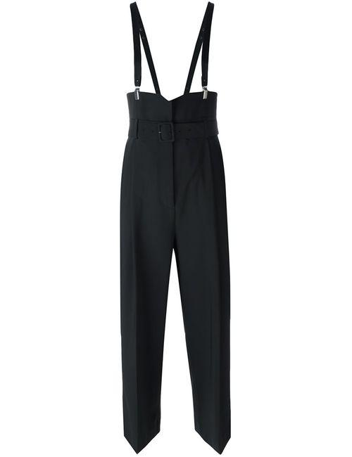 Tibi | Женское Чёрный Suspender Cropped Trousers 4 Polyester/Spandex/Elastane/Wool