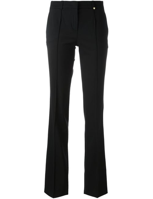 Versace | Женское Чёрный Tailored Trim Detail Trousers 42 Spandex/Elastane/Rayon/Wool