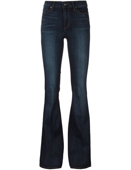 Paige | Женское Синий Classic Flared Jeans 30 Cotton/Polyester/Spandex/Elastane/Rayon
