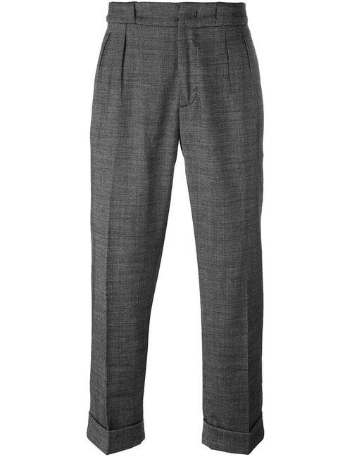 Pence | Чёрный Front Pleat Trousers 50 Spandex/Elastane/Viscose/Virgin Wool