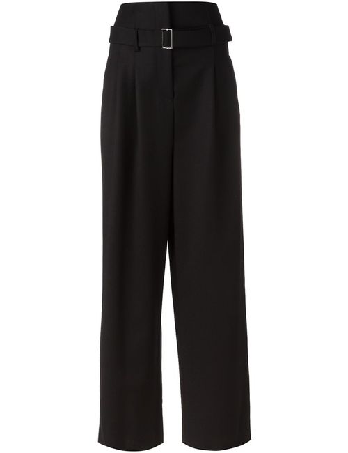Erika Cavallini | Женское Чёрный Wide Leg Trousers 38 Polyester/Acetate/Virgin Wool