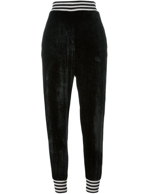 Nude | Женское Чёрный Tapered Regular Length Trousers 40 Silk/Acrylic/Viscose/Wool