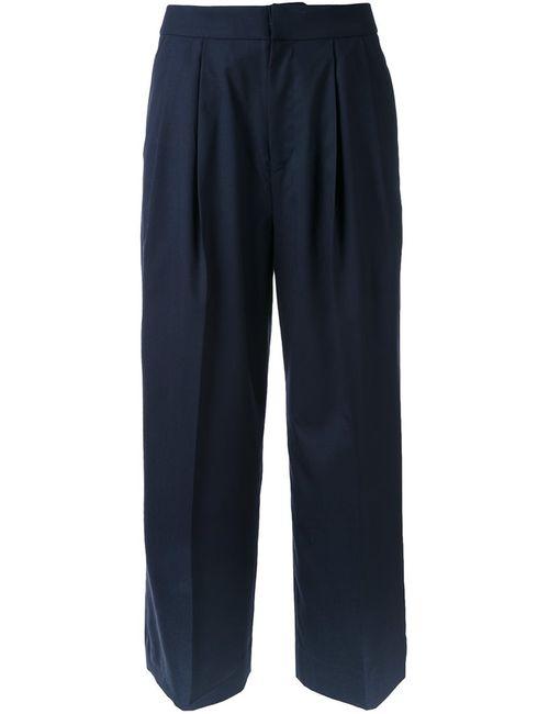 Cityshop | Женское Синий Wide Leg Cropped Pants 38 Wool